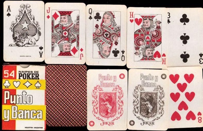 Naipes de poker Punto y Banca