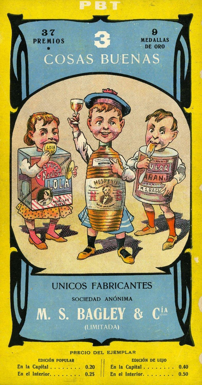 PBT-Revista PBT. Publicidad de Bagley, año 1905.