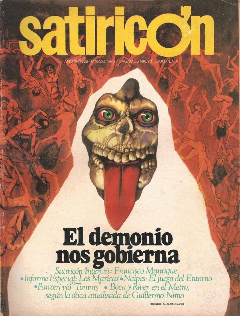 Tapa de Satiricón marzo '76