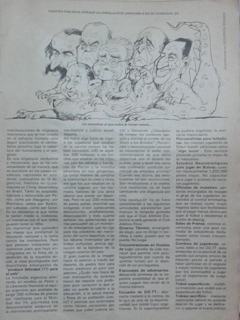 año 1973 Sergio Izquierdo Brown