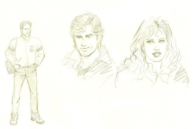 Bocetos de Enrique Gabriel Seijas