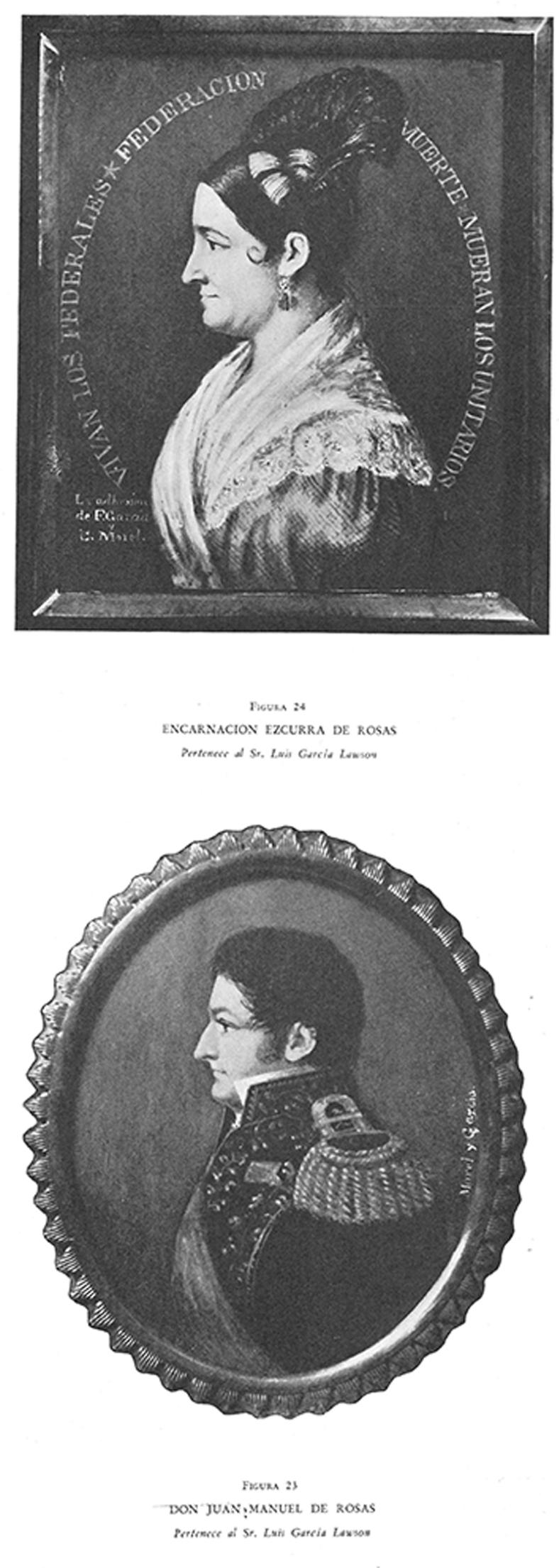 Encarnación Ezcurra de Rosas / Juan Manuel de Rosas