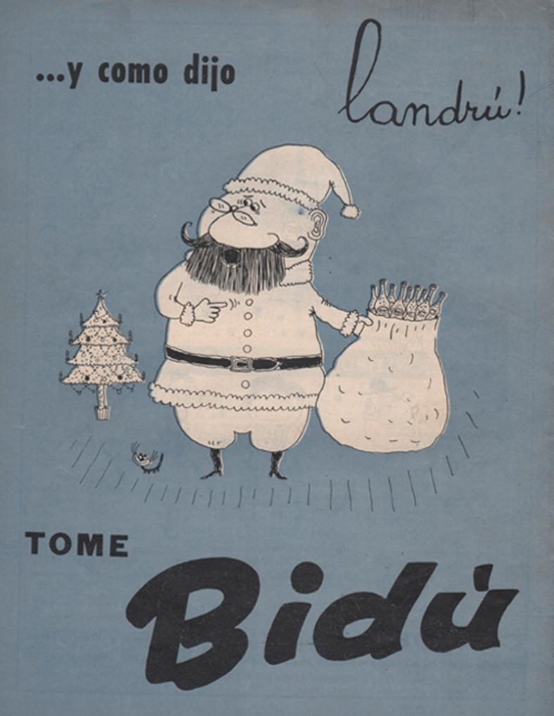 """Publicidad de revista: """"Tía Vicenta"""" (1958)"""