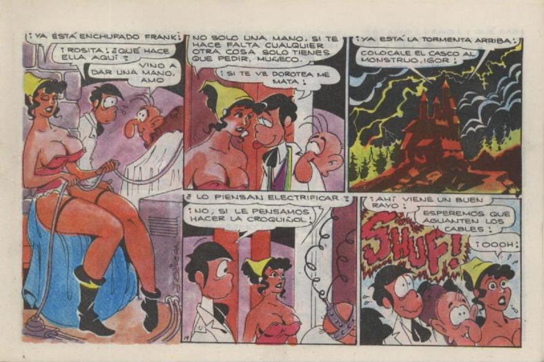 Interior de la historieta de Piturro