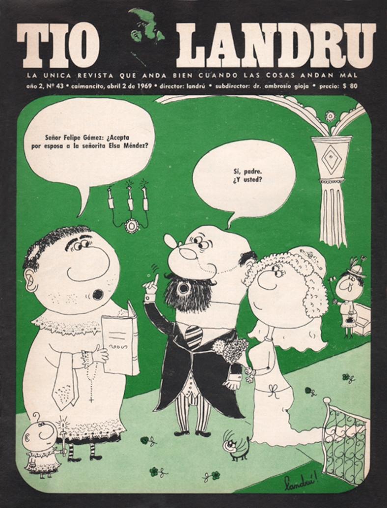 Tapa revista Tía Landru Nº6 (1968)