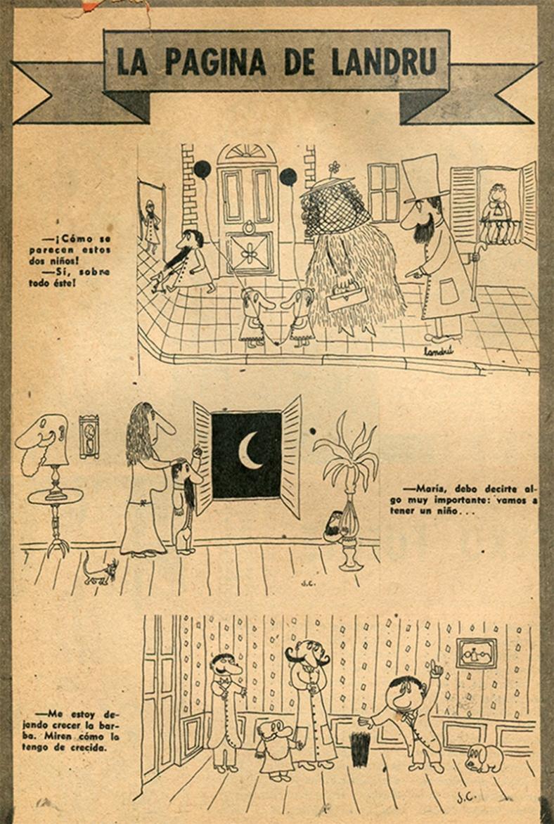 """Página de Revista: """"Tío Landrú"""" - Número 24 (1968)"""