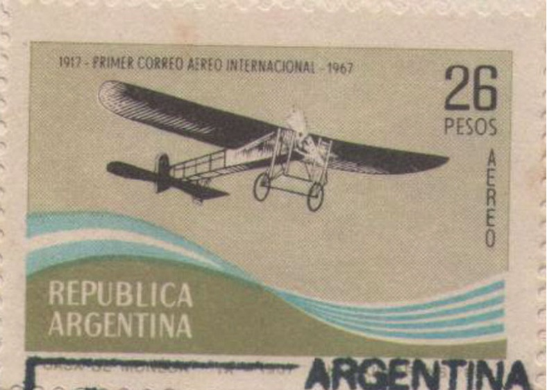 1917 Primer correo aereo internacional