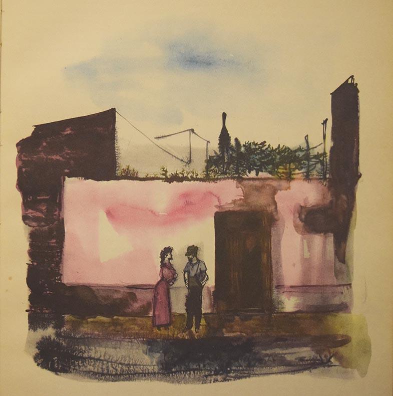 Ilustraciones realizadas en el libro por Héctor Basaldúa.