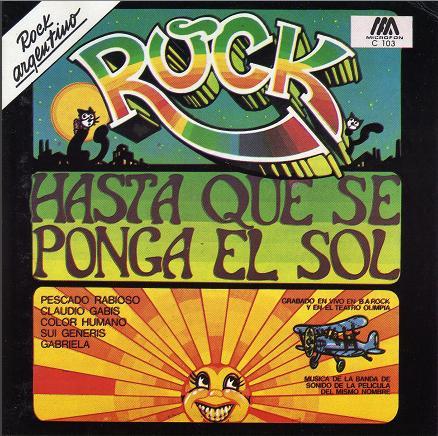 Tapa de la banda sonora de «Rock hasta que se ponga el sol» (1973)