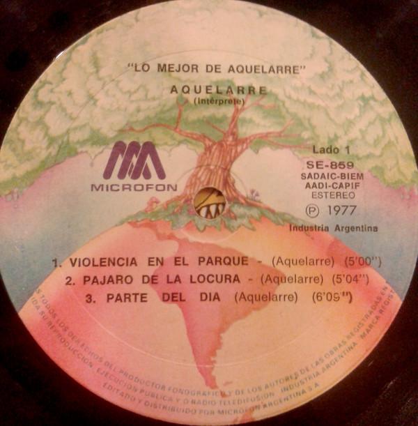 Interior del disco de Aquelarre - Lo mejor de Aquelarre (1977)