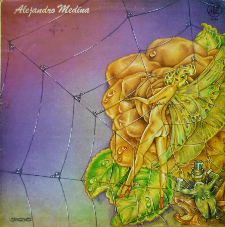 Tapa del disco Alejandro Medina - Alejandro Medina y la pesada (1974)