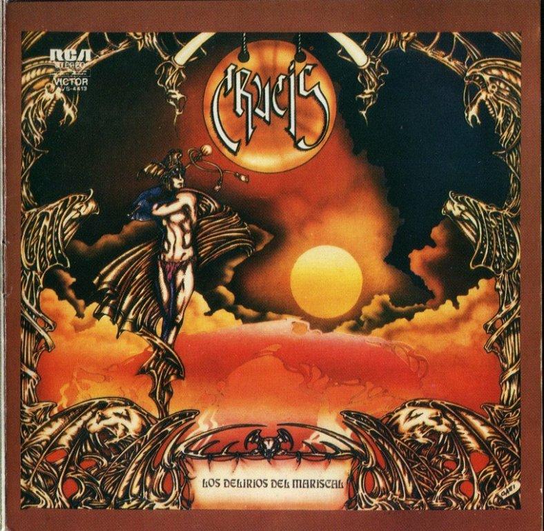 Tapa del disco de Crucis - Los delirios del mariscal (1977)