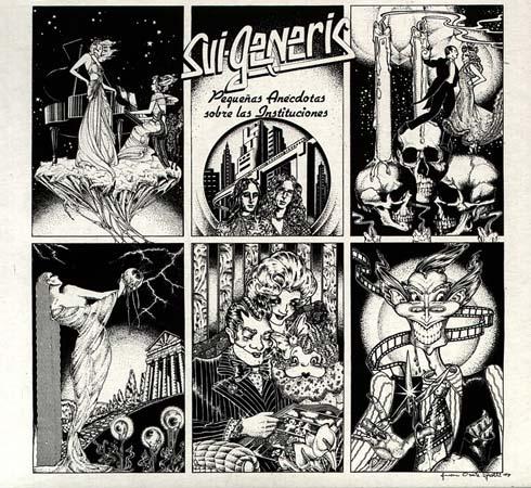 Tapa del disco de Sui Generis - Pequeñas anécdotas de las instituciones (1974)