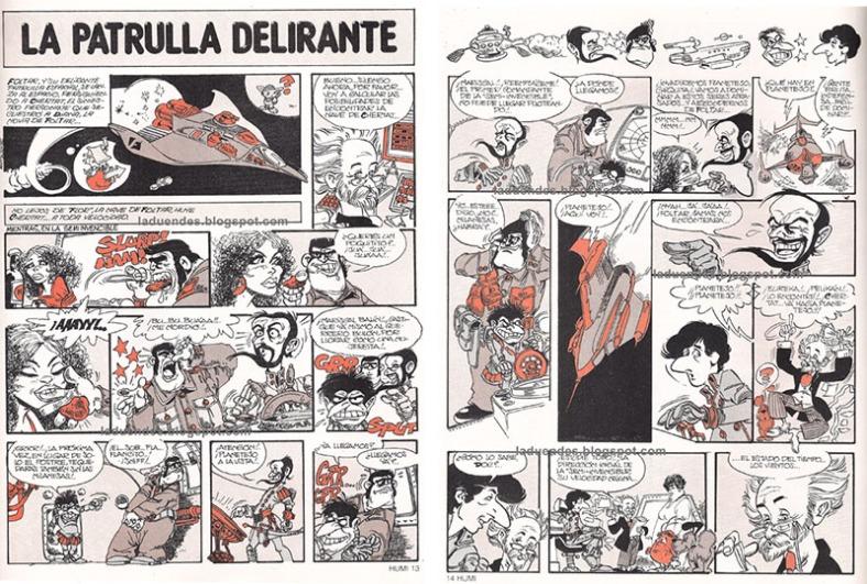 patrulla delirante, revista Humor 1982