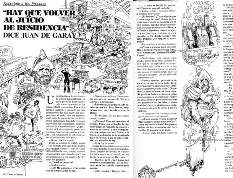 Caras y caretas, 1981,doble pagina, reportaje a los proceres