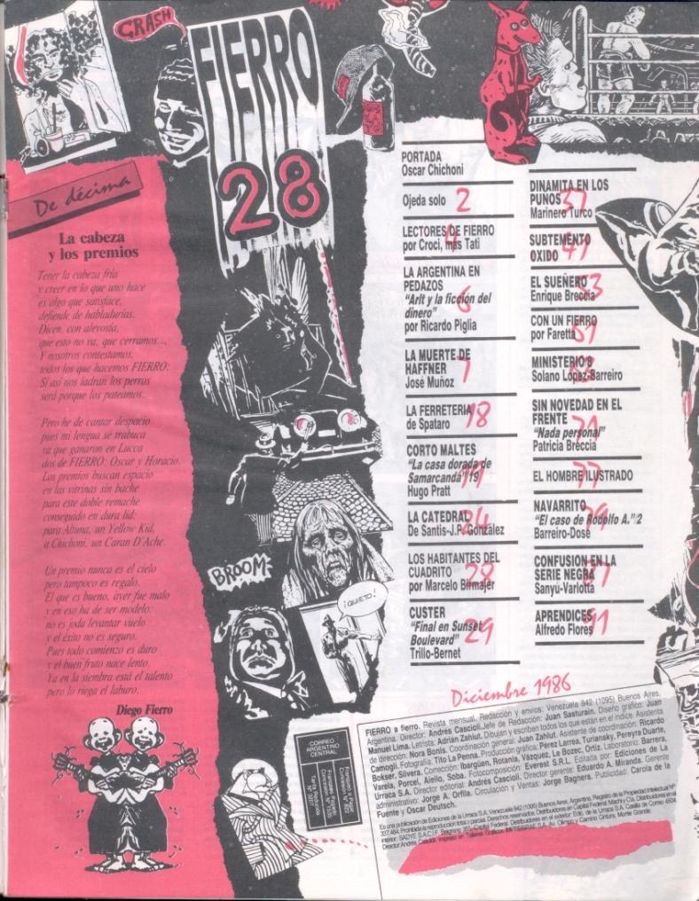 Revista Ferro #28- Diciembre 1986