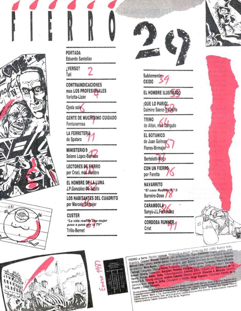 Revista Fierro # 29- Enero 1987