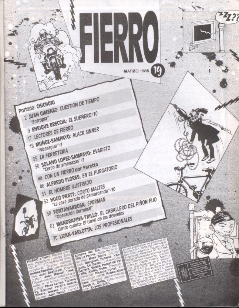 Revista Fierro #19- Marzo 1986