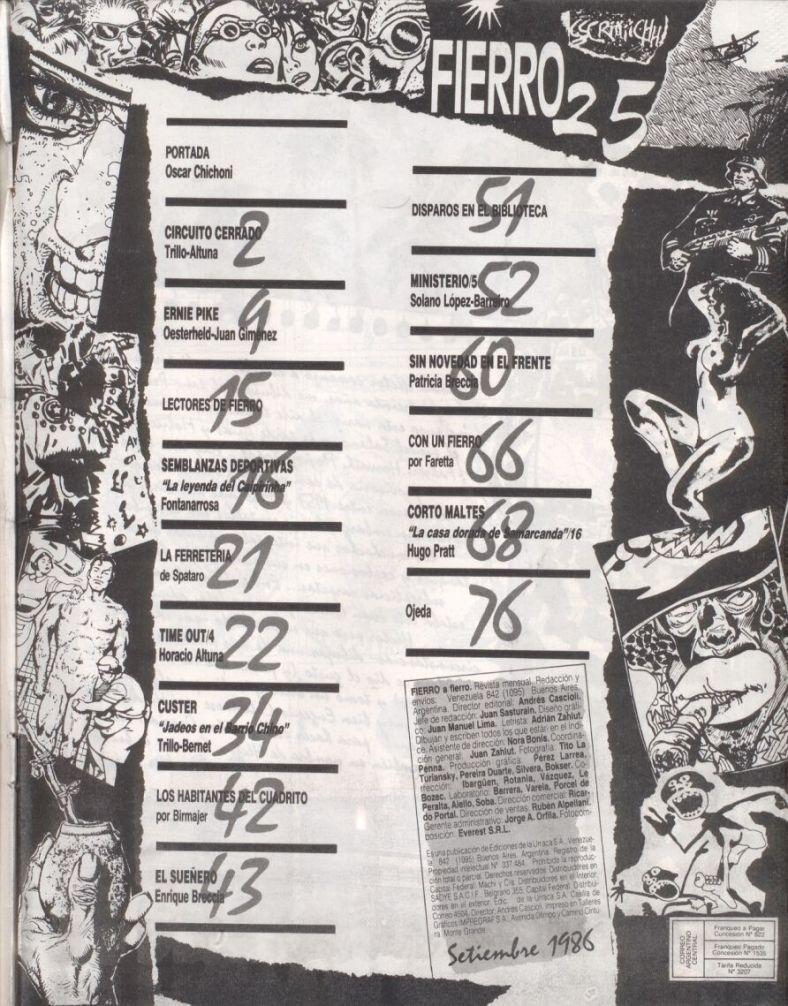 Revista Fierro #25- Septiembre 1986