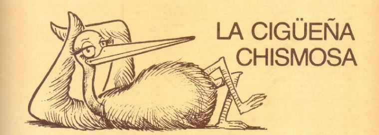 La cigüeña chismosa