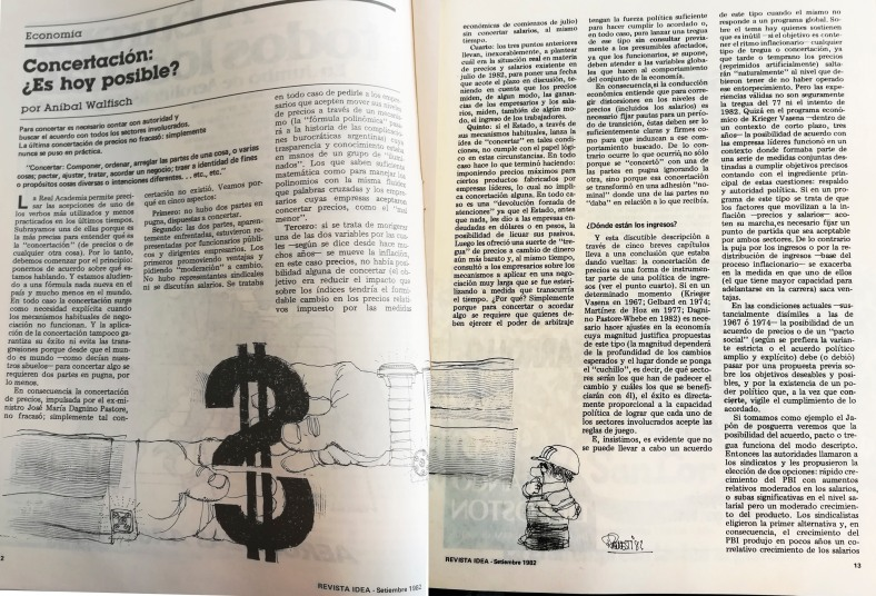 Revista Idea - Notas - Septiembre 1982.