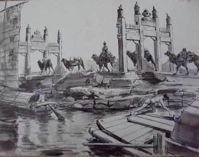 Dibujo para la edici_n de Acme 'Los viajes de Marco Polo'