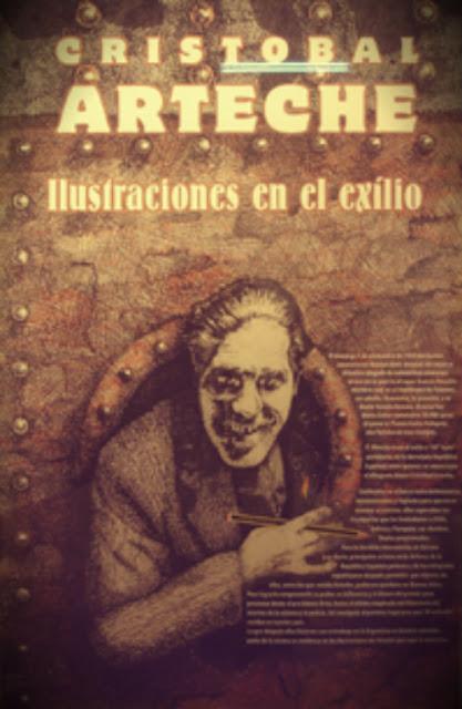 ilustraciones en el exilio - Arteche, Cristóbal, Muestras - Museo de Artes Plásticas Eduardo Sívori