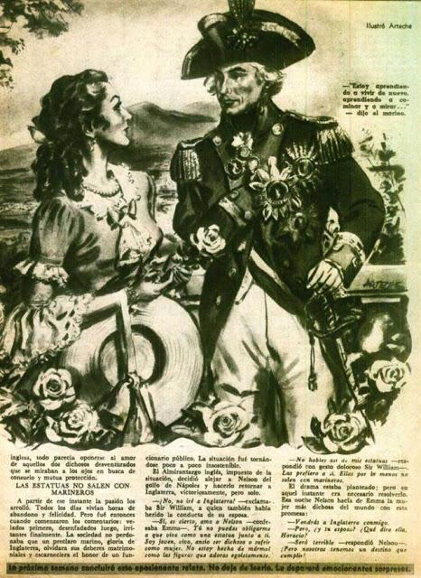 Página de una revista ilustrada por Arteche