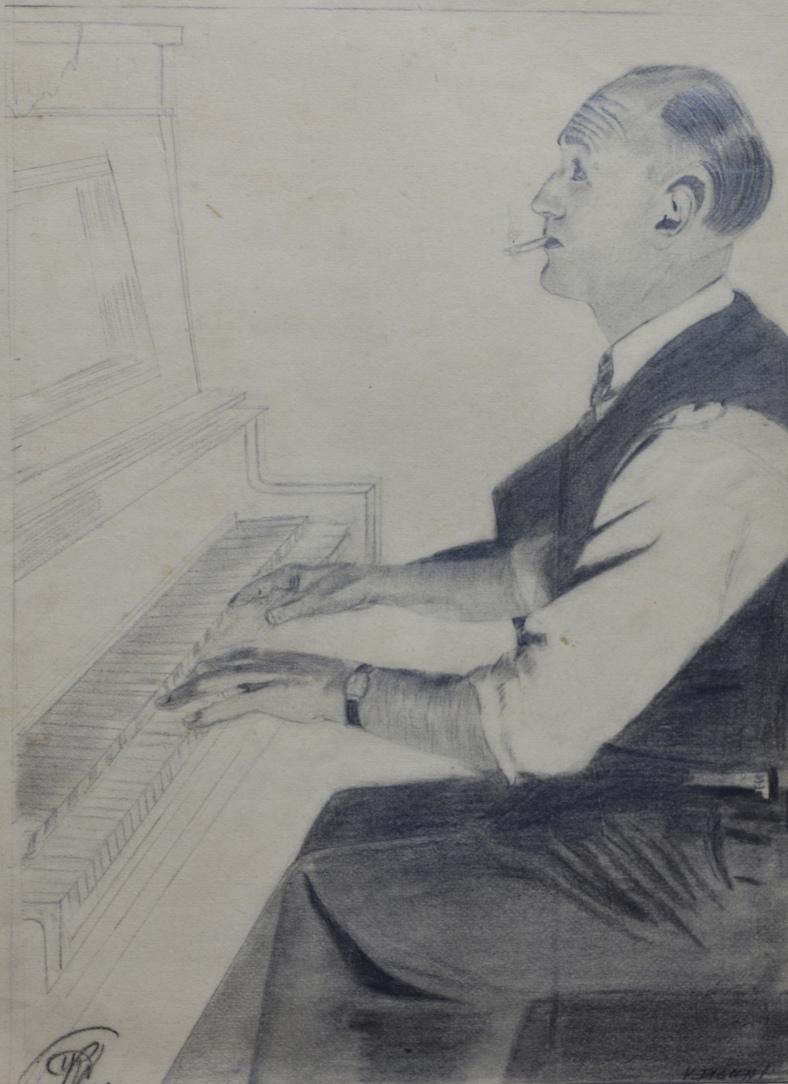 Hombre en el piano