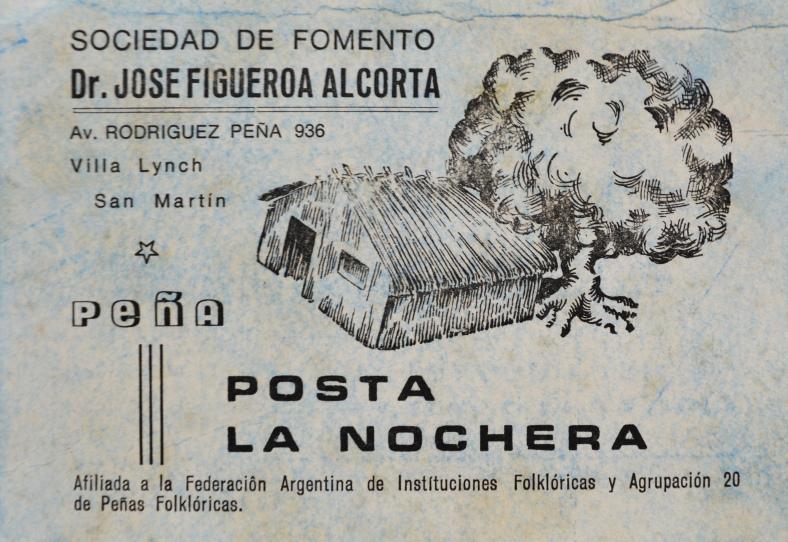 Tarjeta publicitaria de la Posta La Nochera